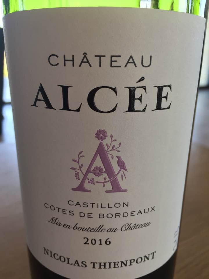 Château Alcée 2016 – Castillon Côtes de Bordeaux
