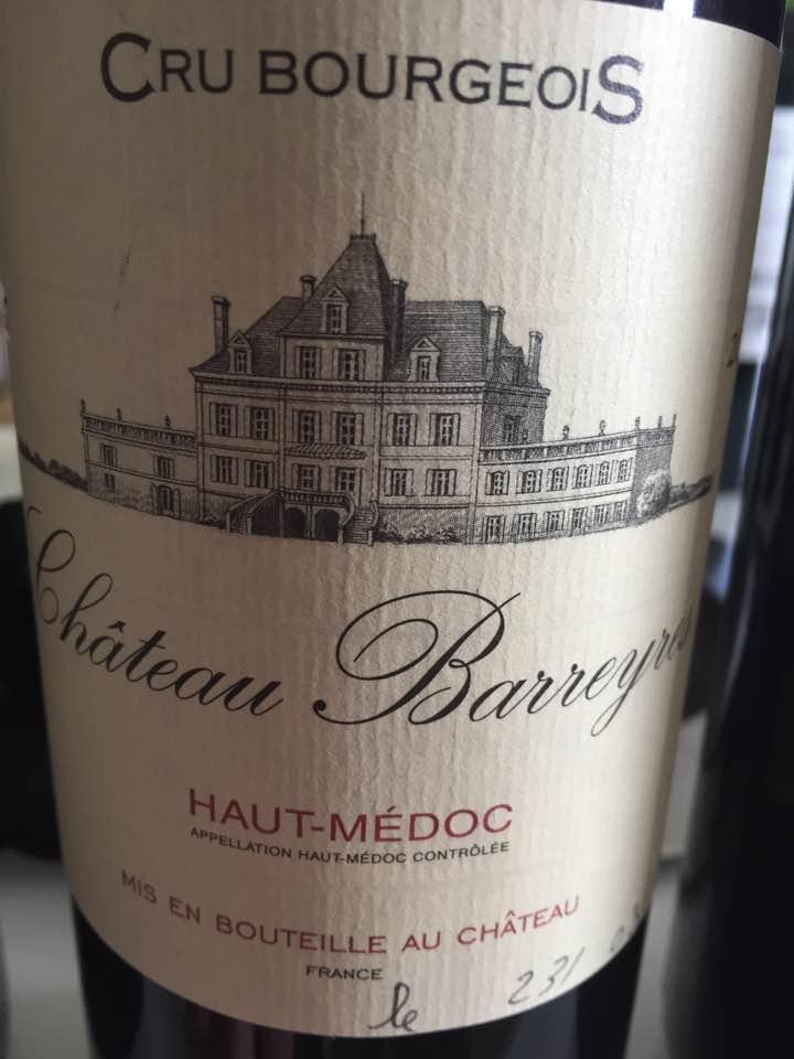 Château Barreyres 2016 – Haut-Médoc