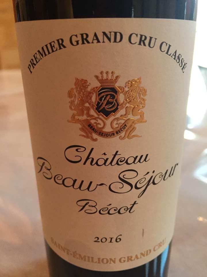 Château Beau-Séjour Bécot 2016 – Saint-Emilion Grand Cru Classé B
