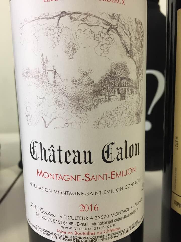 Château Calon 2016 – Montagne Saint-Emilion