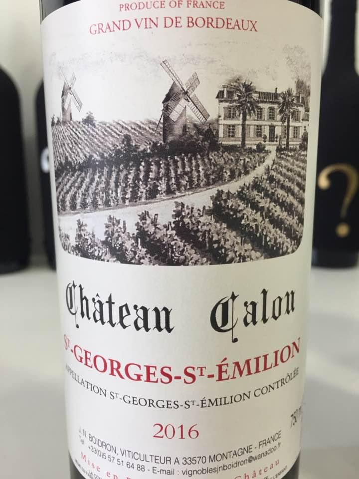Château Calon 2016 – St-Georges-St-Emilion