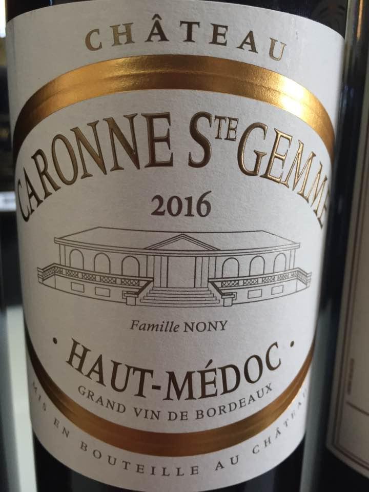 Château Caronne Sainte Gemme 2016 – Haut-Médoc