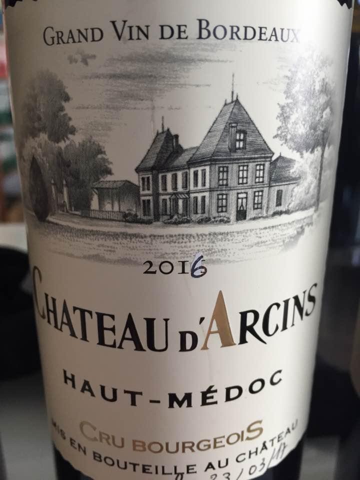 Château d'Arcins 2016 – Haut-Médoc