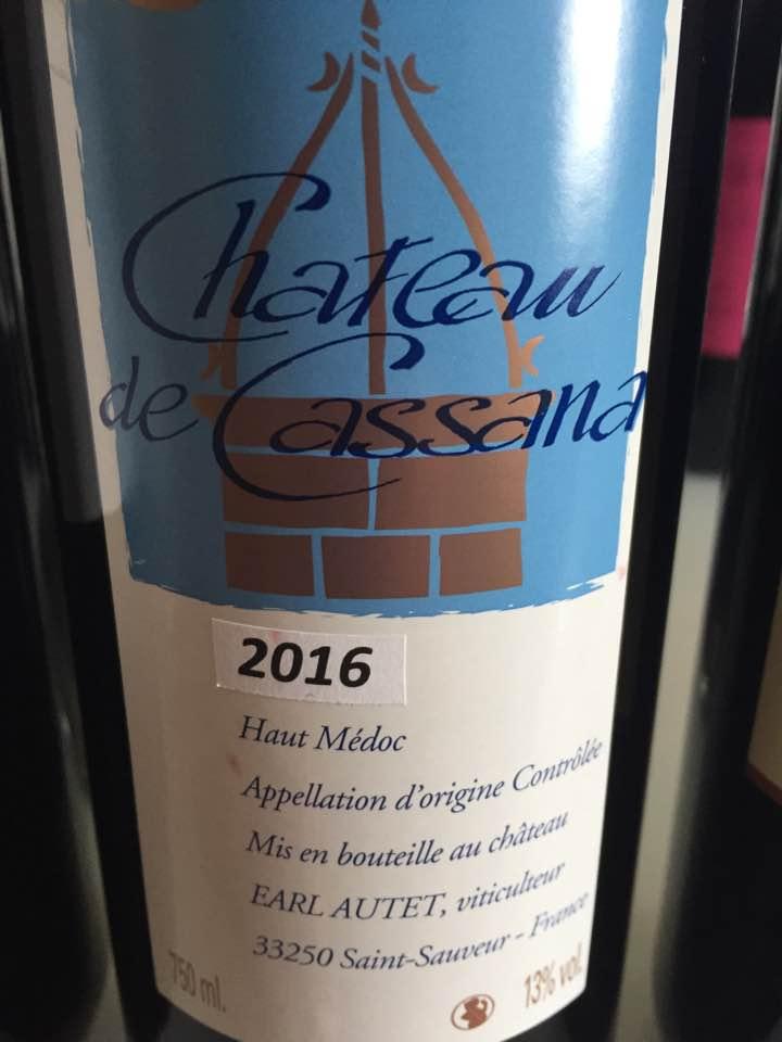 Château de Cassana 2016 – Haut-Médoc