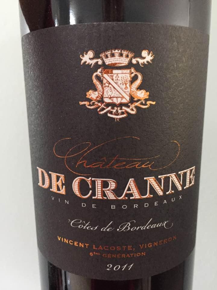 Château de Cranne 2011 – Côtes de Bordeaux