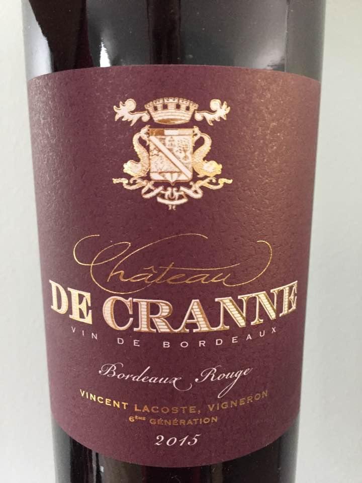 Château de Cranne 2015 – Bordeaux Rouge