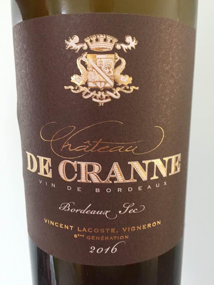 Château de Cranne 2016 – Bordeaux Blanc Sec