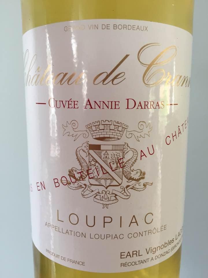Château de Cranne – Cuvée Annie Darras 2014 – Loupiac