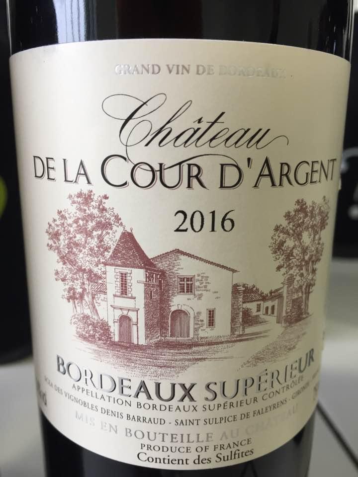Château De La Cour D'Argent 2016 – Bordeaux Supérieur