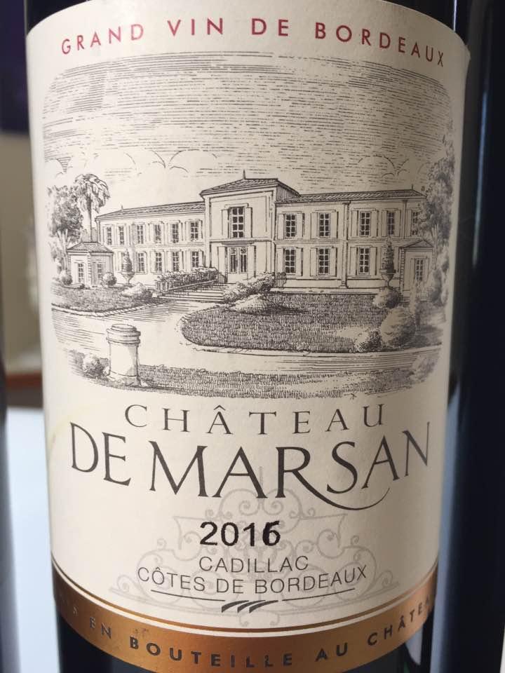 Château de Marsan 2016 – Cadillac Côtes de Bordeaux