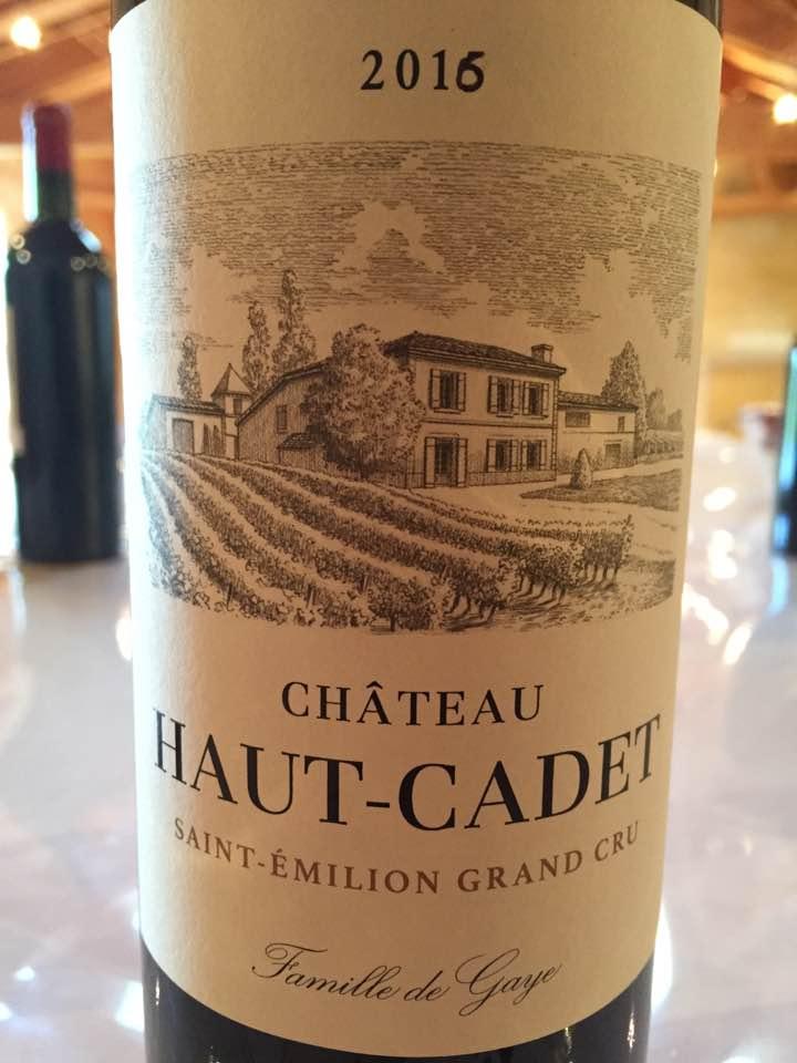 Château Haut-Cadet 2016 – Saint-Emilion Grand Cru