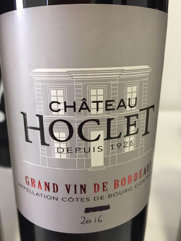 Château Hoclet 2016 – Côtes de Bourg
