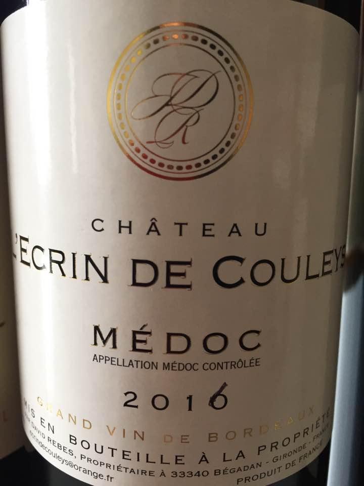 Château L'Ecrin de Couleys 2016 – Médoc