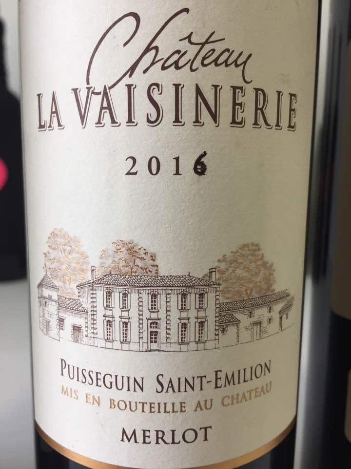 Château La Vaisinerie – Merlot 2016 – Puisseguin Saint-Emilion