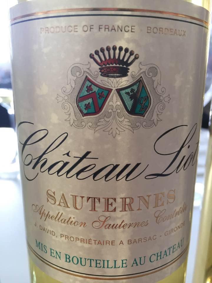 Château Liot 2016 – Sauternes