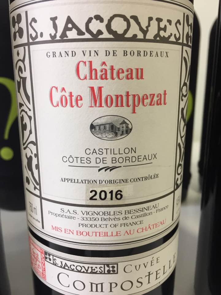 Château Côte Montpezat – Cuvée Compostelle 2016 – Castillon Côtes de Bordeaux