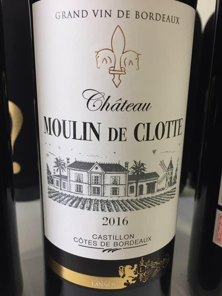 Château Moulin de Clotte 2016 – Castillon Côtes de Bordeaux