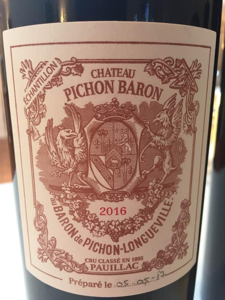 Château Pichon Baron (Longueville) 2016 – Pauillac, 2nd Cru Classé