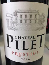Château Pilet – Prestige 2016 – Bordeaux Supérieur