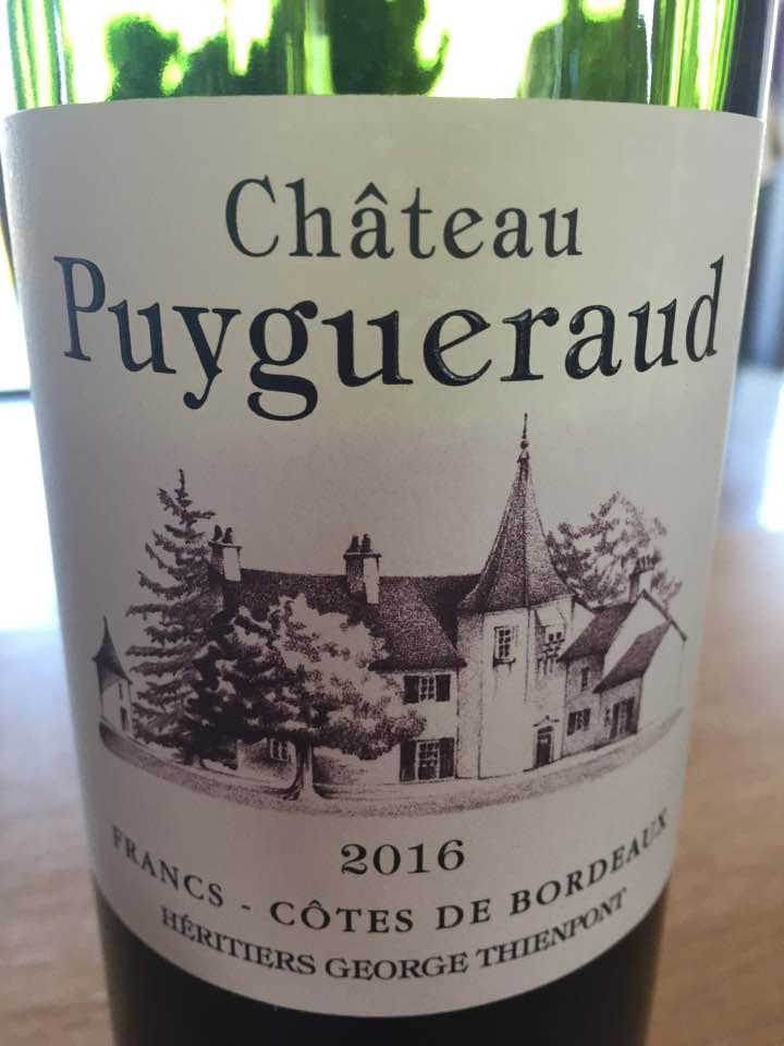 Château Puygueraud 2016 – Francs Côtes-de-Bordeaux