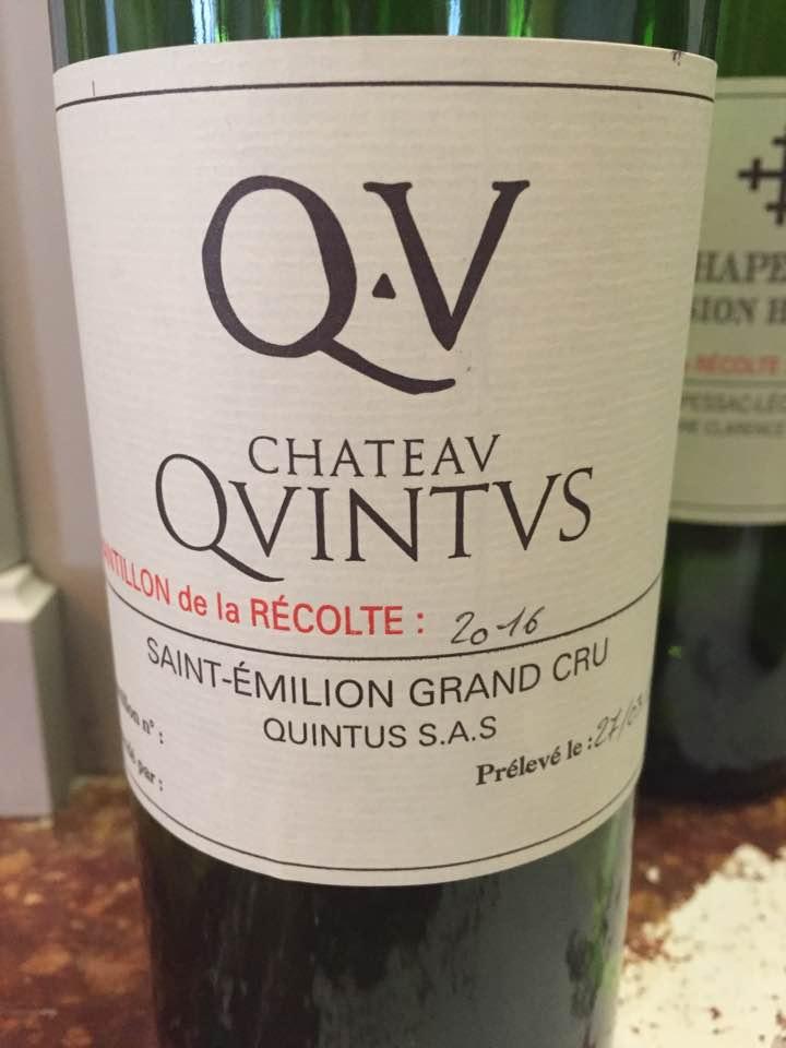 Château Quintus 2016 – Saint-Emilion Grand Cru