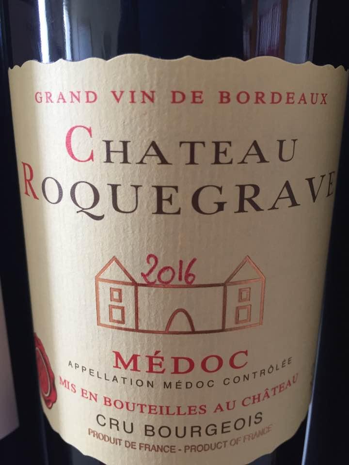 Château Roquegrave 2016 – Médoc