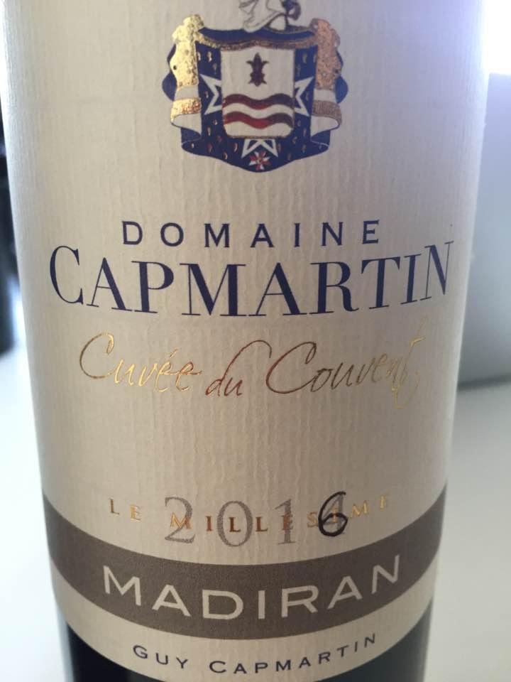 Domaine Capmartin – Cuvée du Couvent 2016 – Madiran