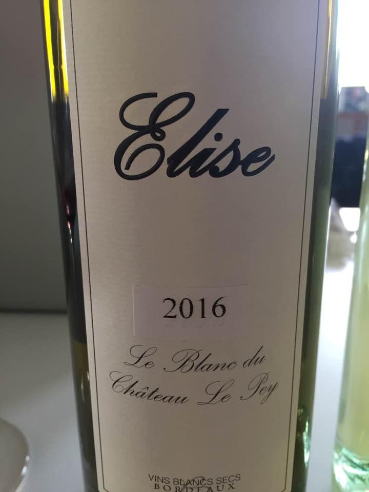 Elise Le Pey 2016 – Bordeaux Blanc