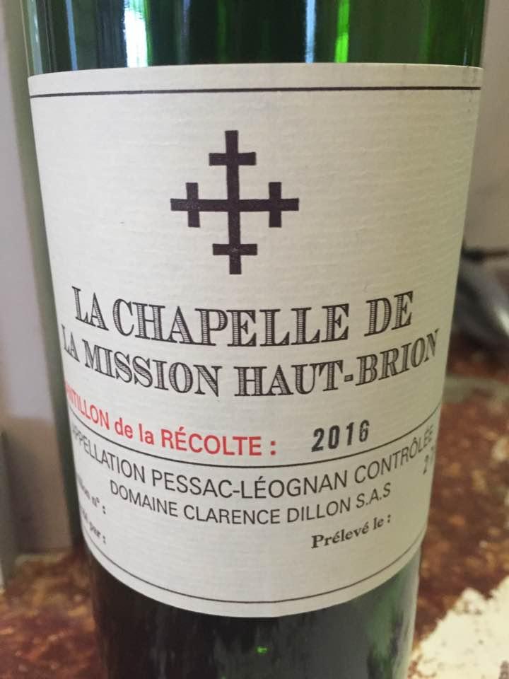 La Chapelle de la Mission Haut-Brion 2016 – Pessac-Léognan