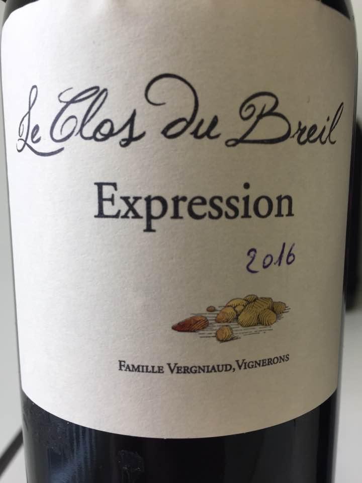 Le Clos du Breil – Expression 2016 – Bergerac
