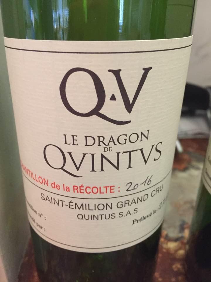 Le Dragon de Quintus 2016 – Saint-Emilion Grand Cru