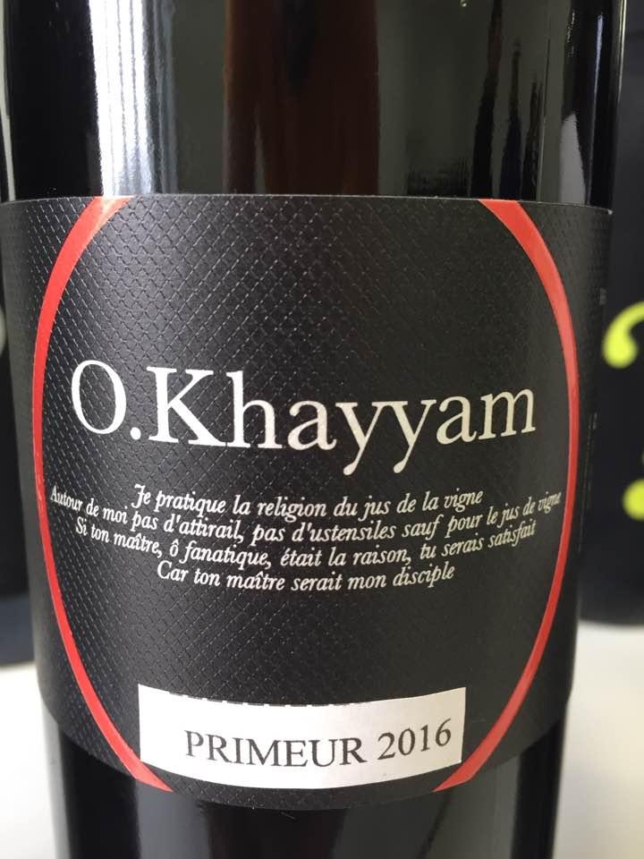 O. Khayyam 2016 – Bordeaux Supérieur