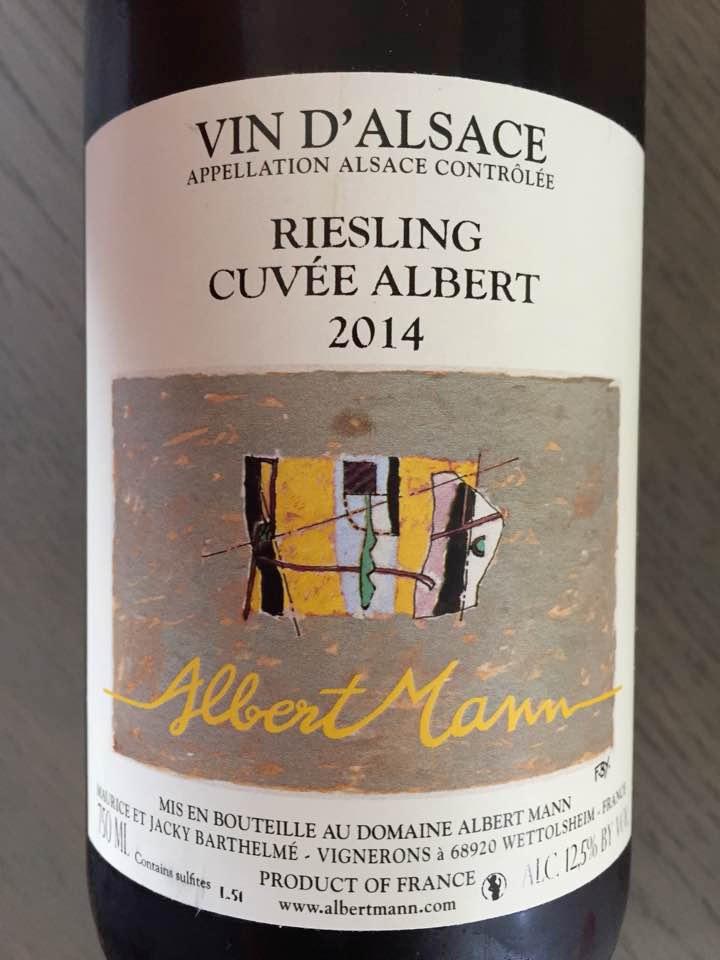 Albert Mann – Cuvée Albert 2014 – Riesling – Alsace