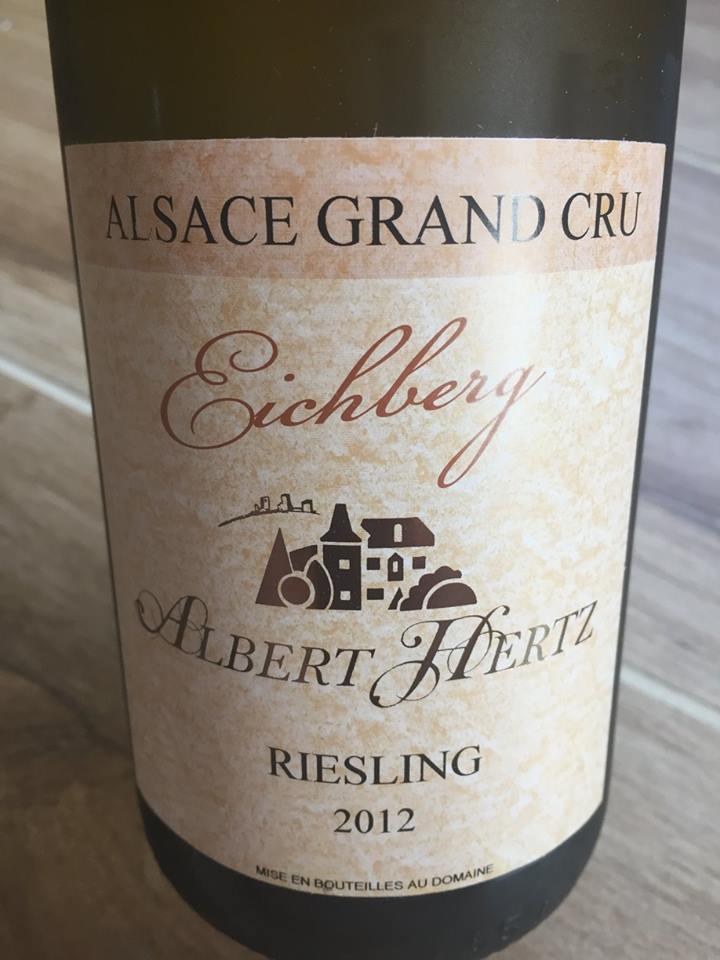 Albert Hertz – Riesling 2012 – Alsace Grand Cru