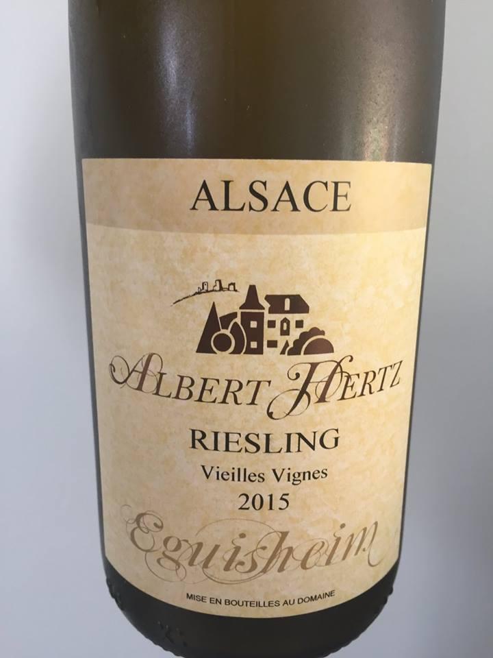 Albert Hertz – Riesling 2015 – Vieilles Vignes – Eguisheim – Alsace