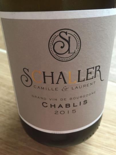 Camille & Laurent Schaller 2015 – Chablis