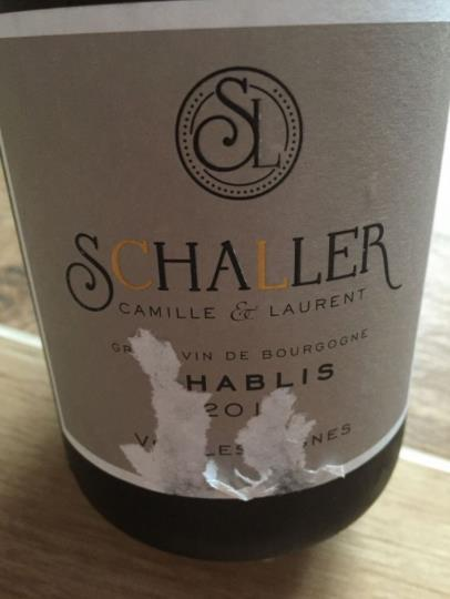 Camille & Laurent Schaller – Vieilles Vignes 2015 – Chablis