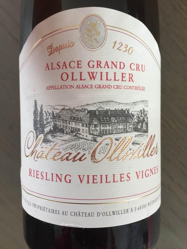 Château d'Ollwiller – Riesling Vieilles Vignes 2014 – Alsace Grand Cru Ollwiller