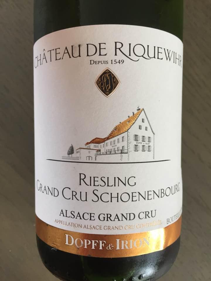 Château de Riquewihr – Riesling 2011 Grand Cru Schoenenbourg – Alsace