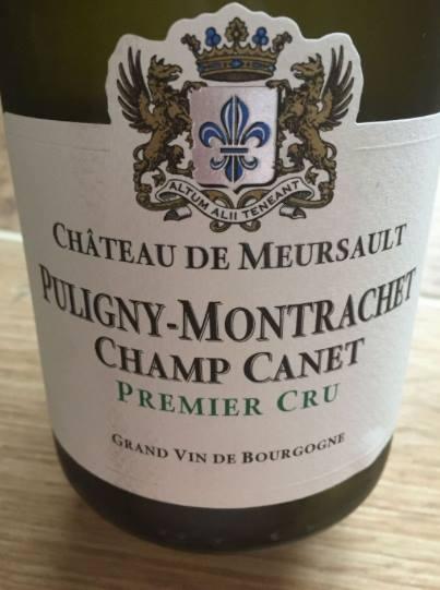 Domaine du Château de Meursault – Champ Canet 2014 – Puligny-Montrachet Premier Cru