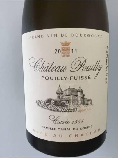 Château Pouilly 2011 – Cuvée 1551 – Pouilly-Fuissé