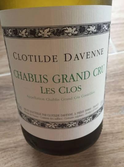 Clotilde Davenne – Les Clos 2013 – Chablis Grand Cru