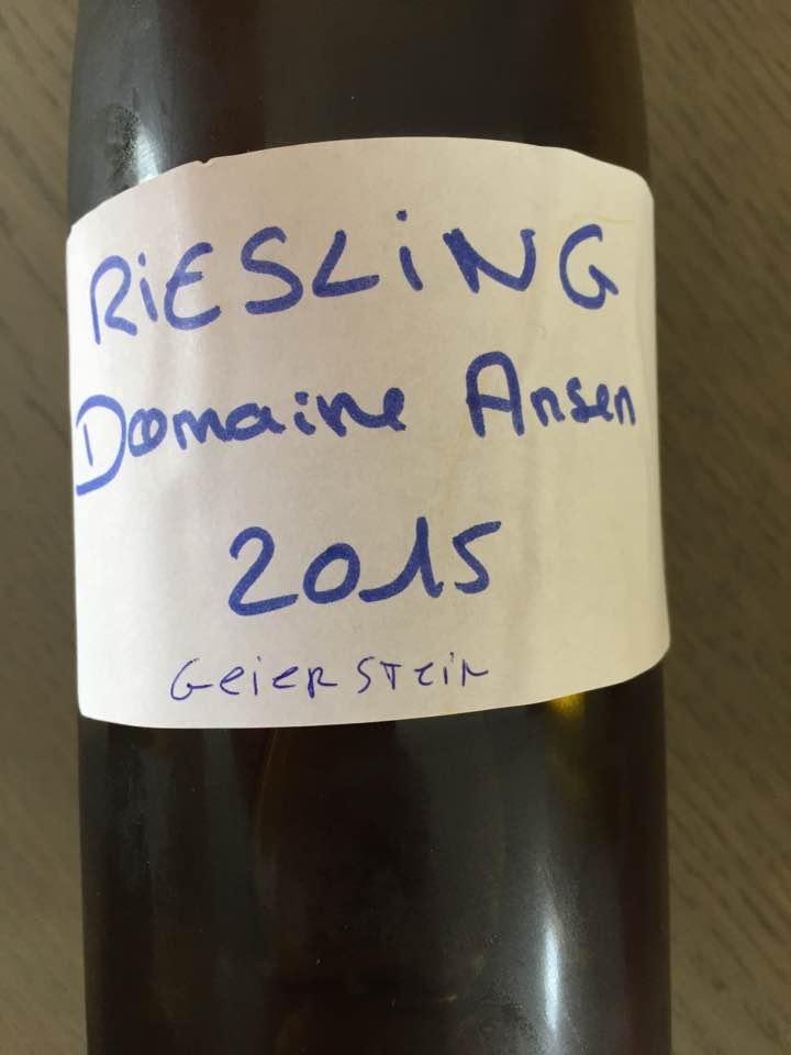 Domaine Ansen – Riesling 2015 Geierstein – Alsa