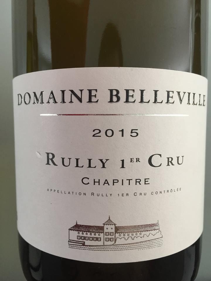 Domaine Belleville – Chapitre 2015 – Rully 1er Cru