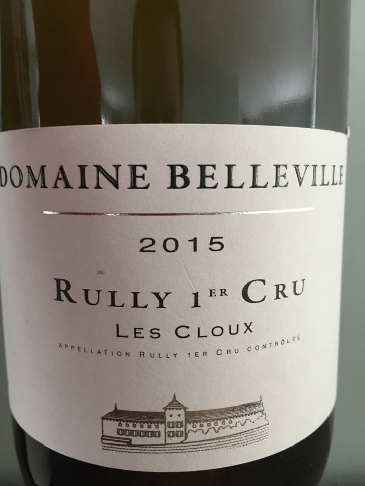 Domaine Belleville – Les Cloux 2015 – Rully 1er Cru