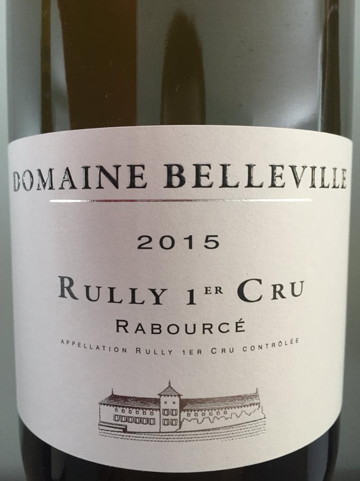 Domaine Belleville – Rabourcé 2015 – Rully 1er Cru