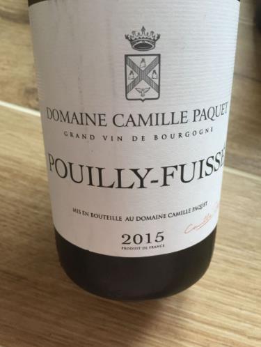 Domaine Camille Paquet 2015 – Pouilly-Fuissé
