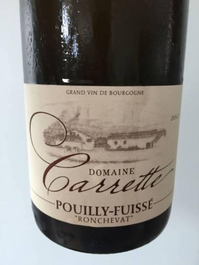 Domaine Carrette – Rochevat 2015 – Pouilly-Fuissé