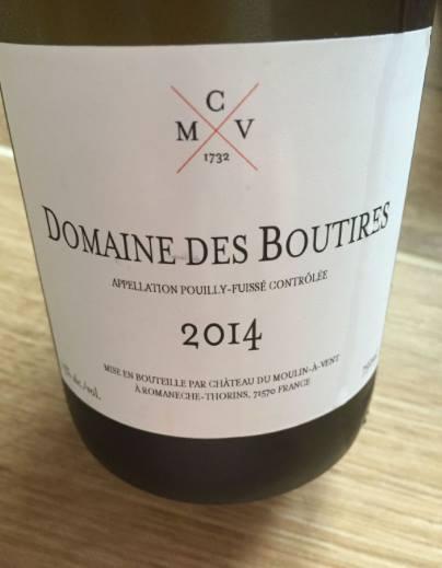 Domaine des Boutires 2014 – Pouilly-Fuissé