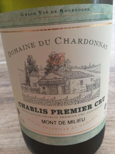 Domaine du Chardonnay – Mont Milieu 2015 – Chablis Premier Cru